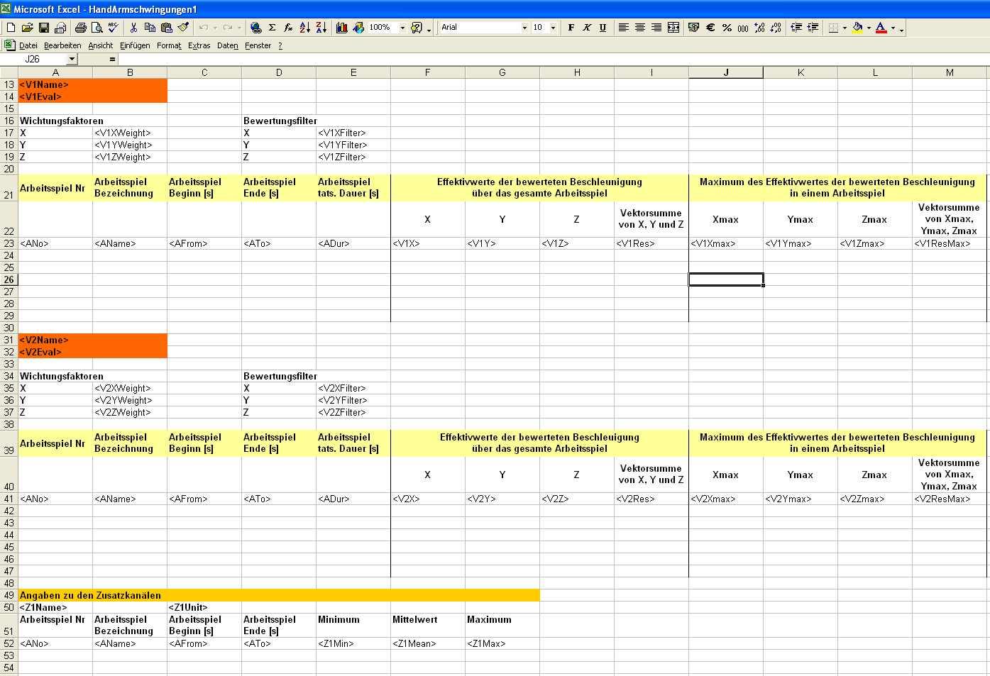 Erstellen eigener EXCEL-Vorlagen